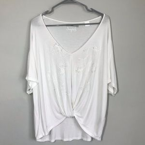 Desigual Slouchy twist knot t-shirt L